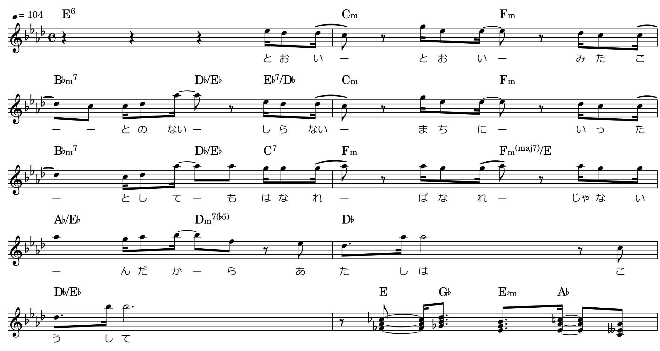 キラキラ/Cメロ楽譜