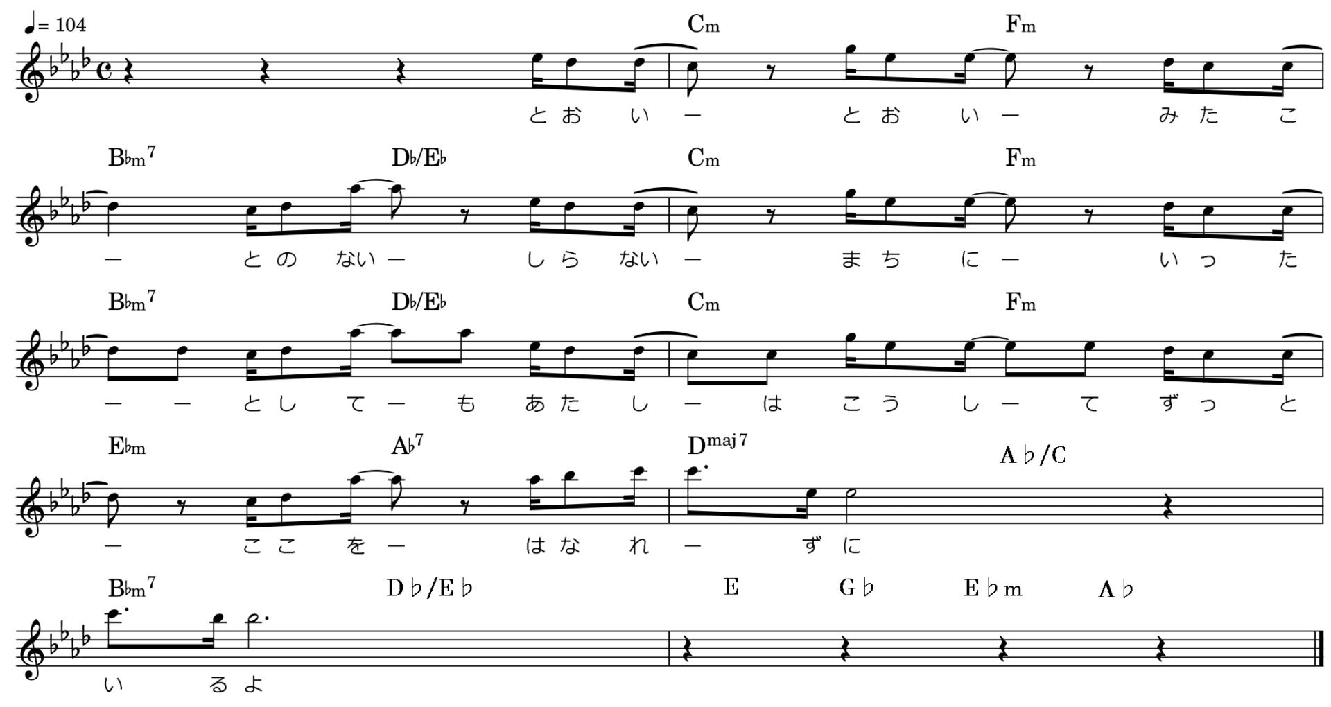 キラキラ/Bメロ楽譜