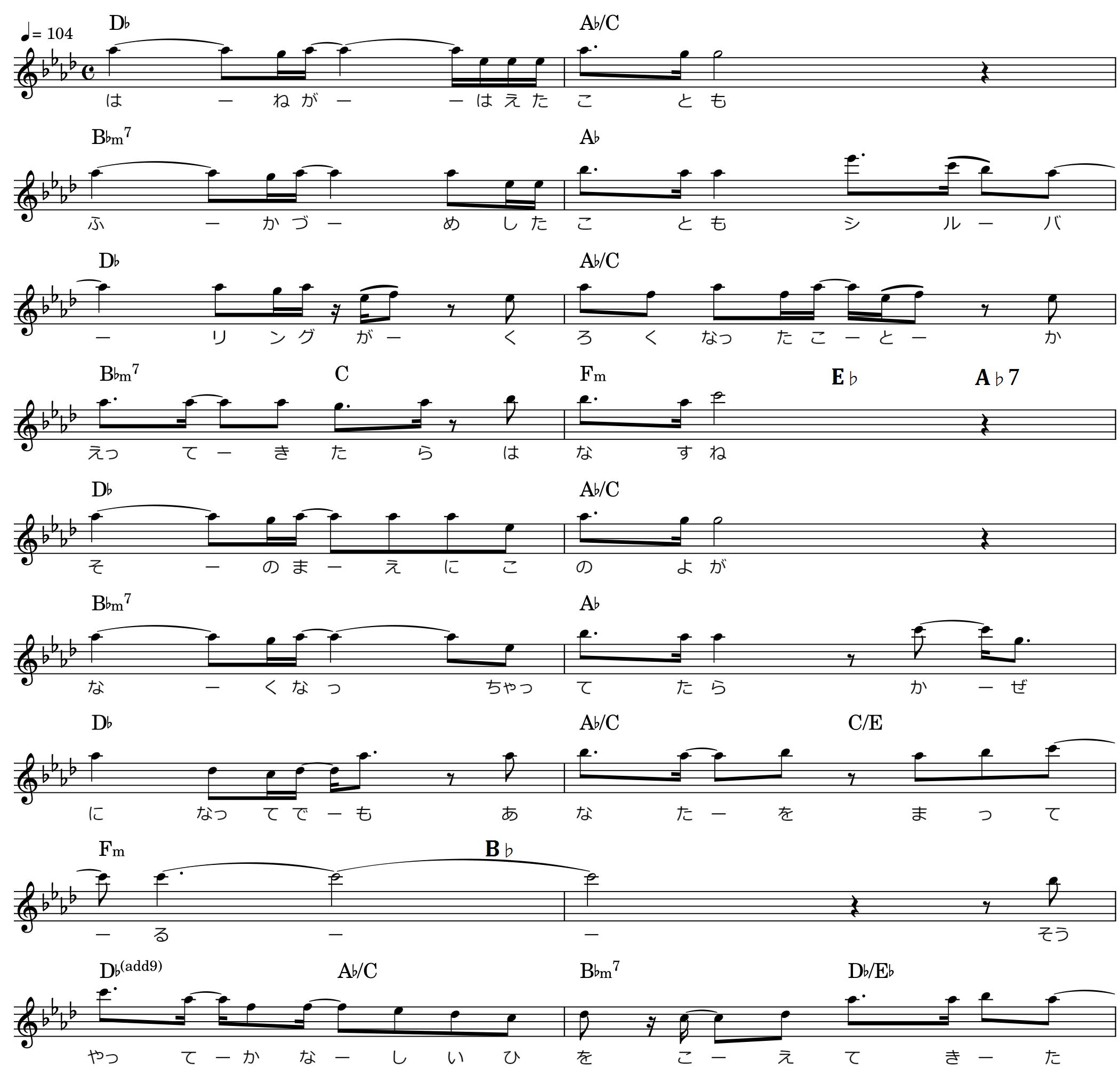 キラキラ/サビ楽譜
